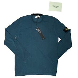 Stone Island Pigment Dyed Knitted Crewneck Navy Size Large BNWT RRP £250