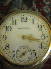 1903 antique vintage old Works Runs 14k Gold Waltham Ladies Pocket Watch Hunter