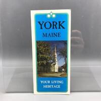 Vintage York Maine Travel Brochure 1960's mv