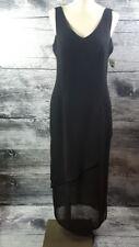 Joseph Ribkoff Women sz 12 Made in Canada Maxi Long Sleeveless Dress Black