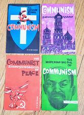 Lot/Collection 4 Vintage Dr. Fred Schwarz Anti-Communist Booklets/Brochures 1960