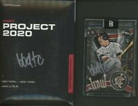 Ben Baller Signed 2020 Topps Project Mike Trout 2011 RC Retro Silver AUTO 99/200
