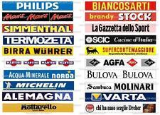 """SUBBUTEO 20 ADESIVI  """" PUBBLICITA' STADI ITALIANI ANNI '70 """" per TRANSENNA"""