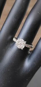 Diamond Illusion Engagement Ring
