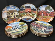 Complete 13 Plate Set Ridgeway Fine China Colonial Heritage Series Robert Franke