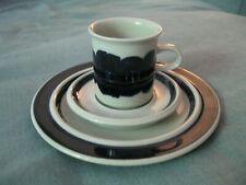3tlg. Kaffeegedeck Tasse + Untere Anemone blau ARABIA