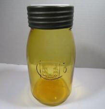 Vintage Amber Buffalo Quart Mason Jar Ball Bros Historic Reproduction