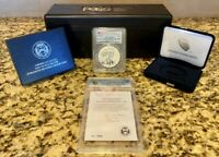 2019-S American Eagle Silver Enhanced Rev. Proof PCGS First Strike & Gold Shield
