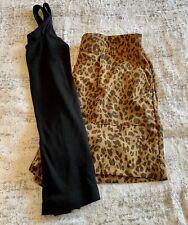 A New Day Women's Leopard Print High-Rise Tie Waist Shorts Med & Black Tank Xs