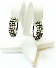 Stunning Hoop Style Crystal Accented Women's Fashion Earrings