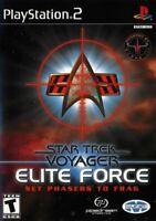 Star Trek: Voyager: Elite Force Set Phasers to Frag (Playstation 2) *COMPLETE*