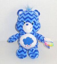 New Care Bears Grumpy Bear Plush Blue Chevron Stripes Zig Zag Special Ed P77