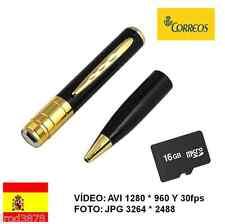 BOLI ESPIA CON CÁMARA OCULTA BOLIGRAFO HD 1280 * 960 + MICRO SD 16GB