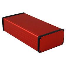 Aluminio instrumento Gabinete Rojo Hammond 1455 220x103x53mm proyecto Funda Caja