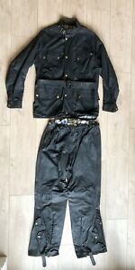 Belstaff Trailmaster 1960s 70s Motorcycle Waxed Jacket 39.5 Inches + Trousers