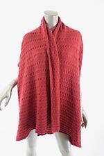CIVIDINI Raspberry Red Cashmere Cable Weave Sweater VEST Cardigan 46 US10