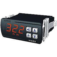 N322-Pt100 Termostato elettronico, Ingresso Pt100, 2 uscite relè Alimentazione 1