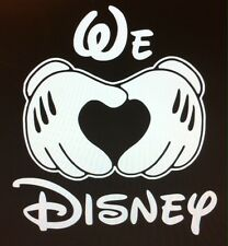 We Heart DISNEY, MICKEY MOUSE hands vinyl decal