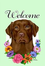 Dyrenson Home Decorative Outdoor Dog Welcome Garden Flag Double Sided 12 x 18