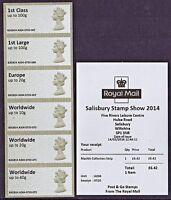 SALISBURY 2014 Post & Go MACHIN A004 Ma13 COLLECTORS STRIP B SERIES with RECEIPT