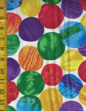 The Very Hungry Caterpillar Cotton quilt fabric by Andover BTY Lg Packed Circles