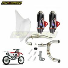 Dirt Pit Bike Full System Dual Exhaust Muffler Slip On Pipe For CRF150F CRF230 F