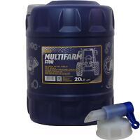 20 Liter MANNOL Motoröl SAE10W-30W Multifarm STOU Engine Oil Öl + Auslaufhahn