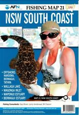 South Wales NSW South Coast : AFN Fishing Map 21 By Bill Classon