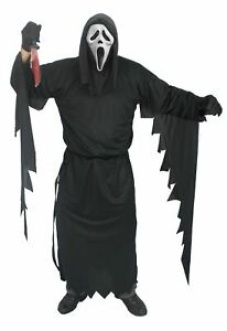 Scream Scary Movie Costume With Official White Ghost Face Mask Halloween