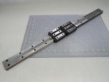 Lot of 2 Thk Hrw27 Linear Bearing Blocks W/ 25 In Rail T166528