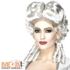 Marie Antoinette Wig Ladies Fancy Dress White Baroque Adults Costume Accessory
