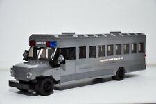 LEGO Police Prisoner Inmate Transport Bus Gray City Town Custom Speed Champions