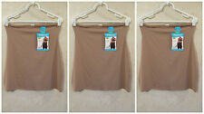 LOT OF 3 SHAPERCISE XL 12-14 Cafe Brown Cool Smoothing Light Control Half Slips