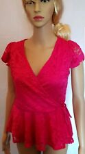 Jane Norman Top Lace Wrap Short Sleeve Top - SIZE 6 - RRP: £29