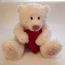 Hallmark Hearlty Animated Talking Teddy Bear Heart Plush Stuffed Animal Valentin