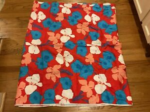 """4+ Yards Vintage Floral Fabric Woven Cotton Red Blue Pink White Purple 44"""" Wide"""