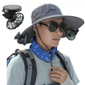 Mini Clip on Hat Outdoor Solar Sun Energy Power Panel Cell Cooling Fan Cooler