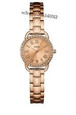 AUTHENTIC GUESS LADIES' DRESSY WATCH ROSE GOLD TONE W0837L3 RRP:399 BRAND NEW