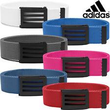 Adidas 3-Stripes Buckle Performance Webbing Canvas Golf Belt - One Size