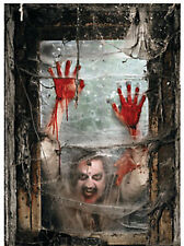 Halloween ZOMBIE window cover DECOR Backdrop Banner WALKING DEAD Apocalypse