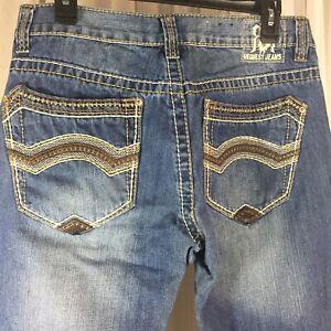 Request Jeans Premium RQST Mens Blue Jeans 32x30 Straight Cut Thick Stitch EUC