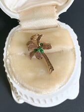 Antique 9ct Yellow Gold Palm Tree Charm Very Rare & Beautiful Hand Painted!! NR