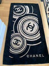 Nwt authentic Chanel Beach Towel Black & Brown Circles