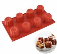 Silicone Cupcake Mousse Muffin Pan Caneles Pastry Bakeware Cake Baking Tray Mold