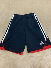 Adidas Boys YOUTH Size Small Athletic Basketball Shorts Black Logo