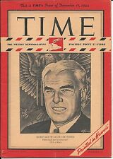 Time Magazine Pacific Pony Edition Dec 11, 1944. Secretary of State Stettinius.
