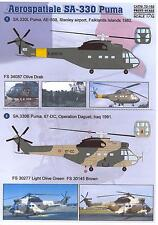 Print Scale Decals 1/72 AEROSPATIALE SA-330 PUMA Helicopter