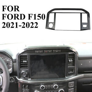 Carbon Fiber Central control navigation screen trims for Ford F150 F-150 2021-22