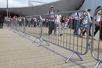 Heras Pedestrian Barrier Crowd Control Site Temporary Fencing x 20