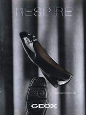 Publicité Advertising 2011 GEOX chaussure soulier collection mode